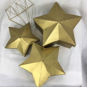 Gold Dimensional Star Nesting Boxes